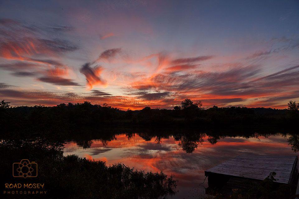 Photo in Landscape #roadmoseyphotography #wvgoldenhour #dock #creek #boat