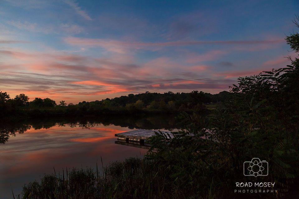 Photo in Landscape #wvgolden hour #goldenhour #roadmoseyphotography #bellevillewv #creek #boatdock #sunset