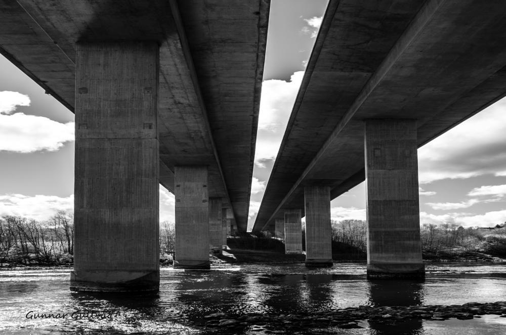 Photo in Black and White #bridge #b&w