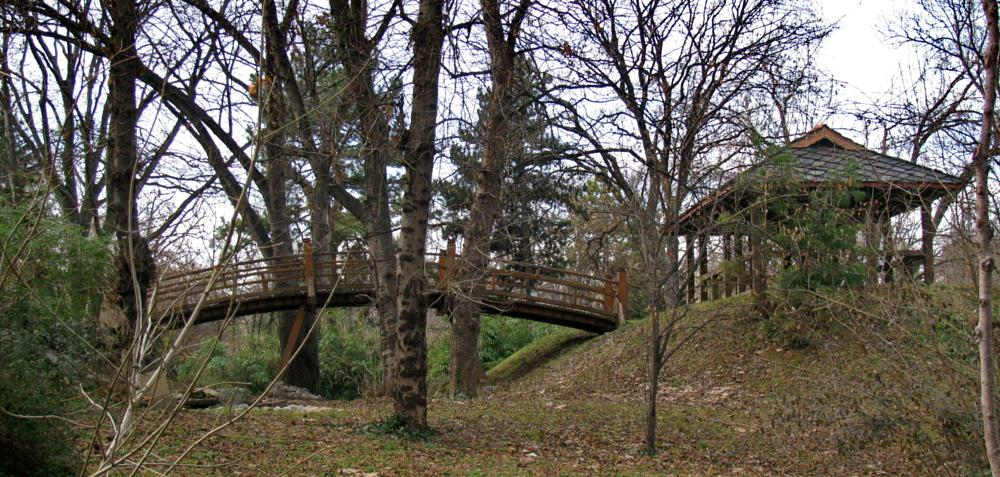 Photo in Nature #park #belgrade #bridge #beograd #japanese #gazebo #trees