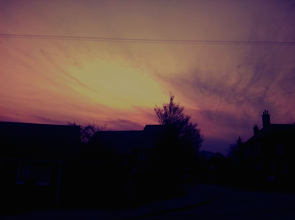 Photo in Cityscape #dusk #sky #street #skyscape #city #colourful #skyline #nature #clouds