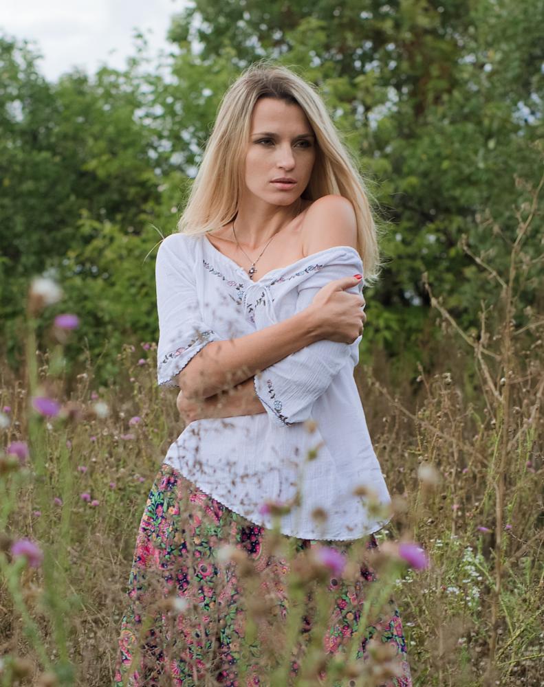 Photo in Portrait #новокалиново #девушка #осень #портрет #поле