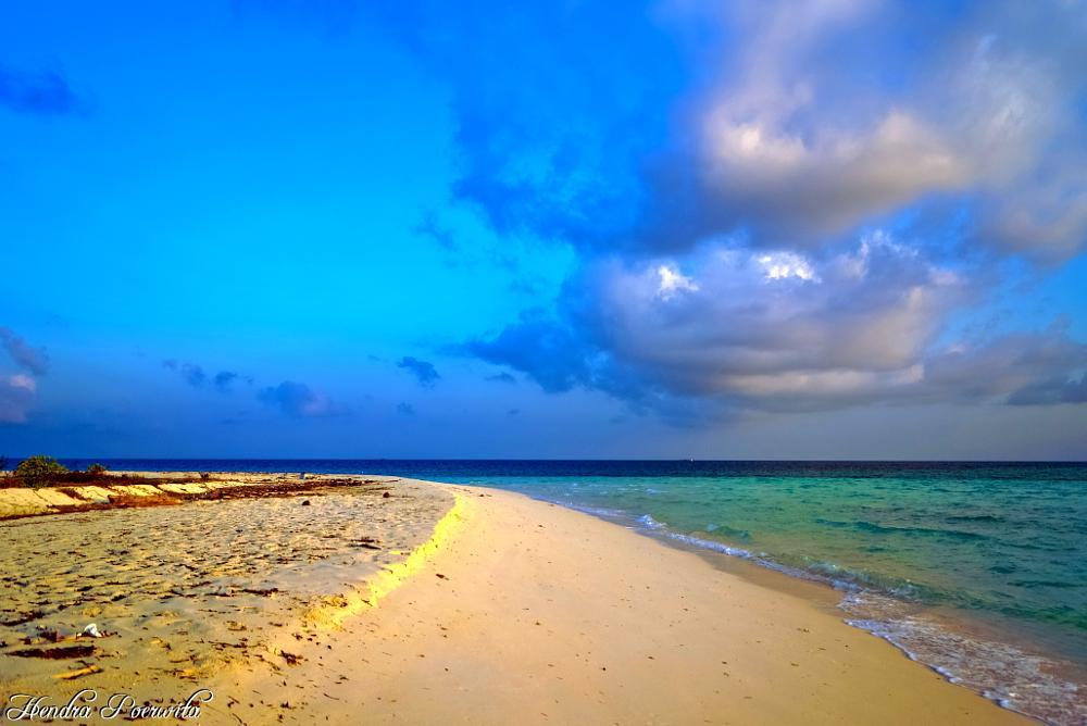 Photo in Sea and Sand #beach #seascape #morning #horizon #sea #sand