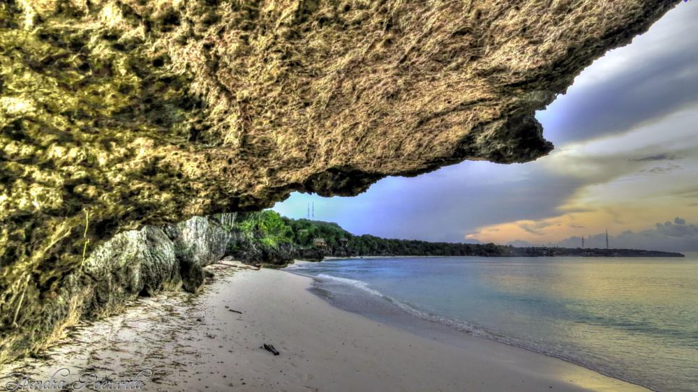 Photo in HDRI #cliffs #stones #sea #beach #sea and sand #morning #hdri