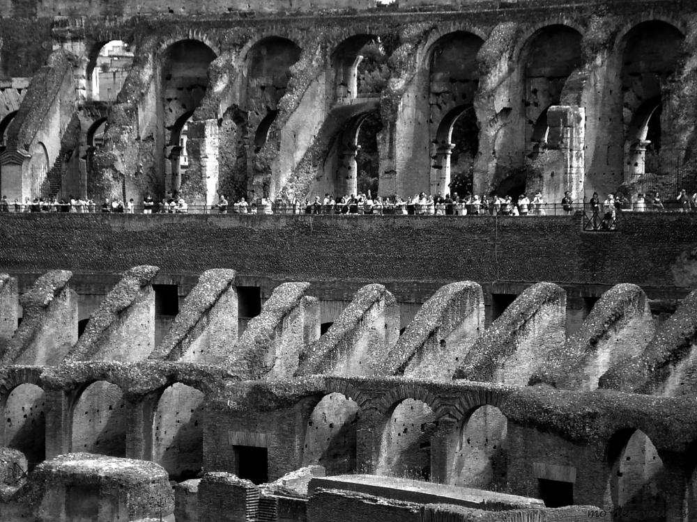 Photo in Black and White #colosseum