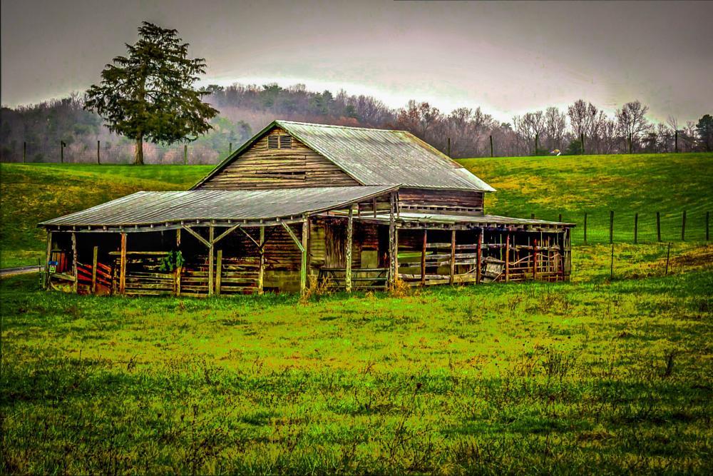 Photo in Landscape #barn #shed #farm