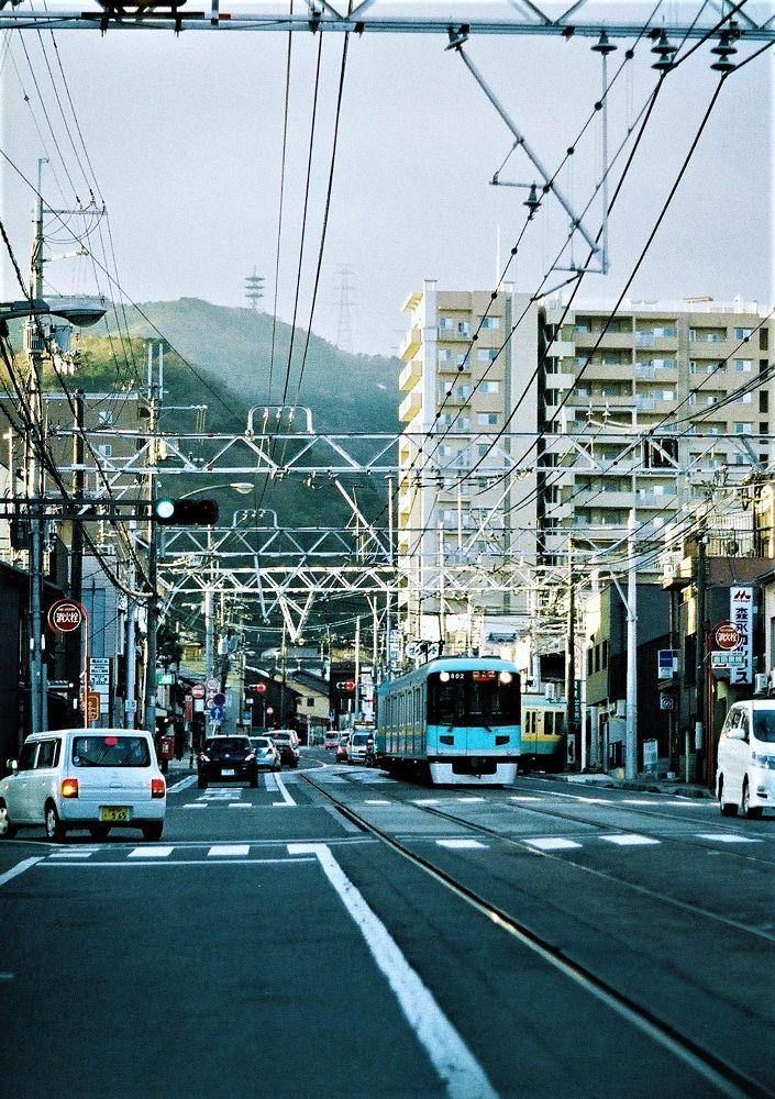 Photo in Film #train #street #kamisakaemachi #hamaotsu #olyumpus #pen-ft #zuiko #film
