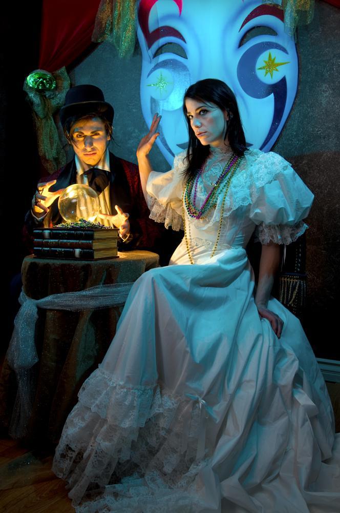 Photo in Fine Art #man #fortune teller #mystic #seer #gypsy #bride #unhappy