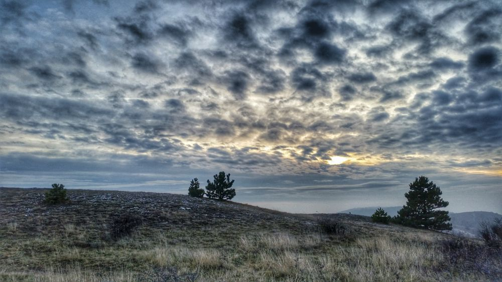 Photo in Landscape #clouds #top of the hill #december #winter #afternoon