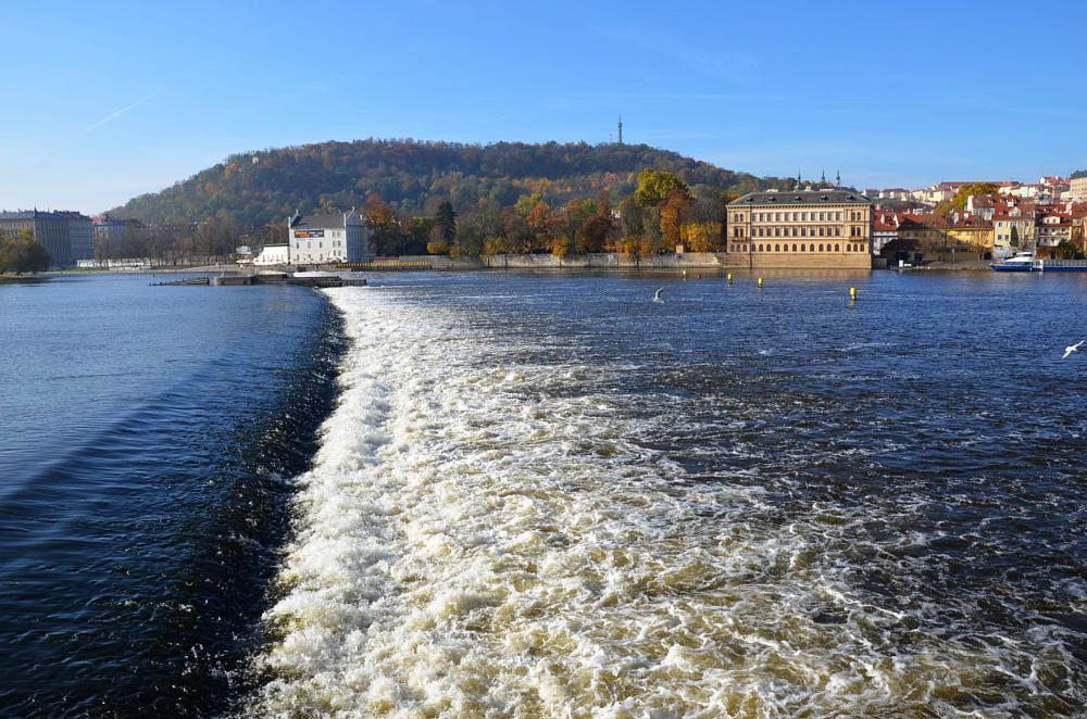 Photo in Landscape #prague #moldova #vltava #river #stream #water #power #petřín #tower