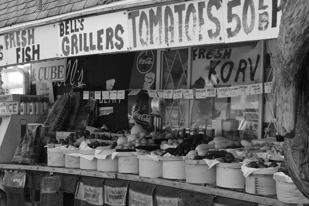 Photo in Street Photography #fruits #vegetables #store #black and white