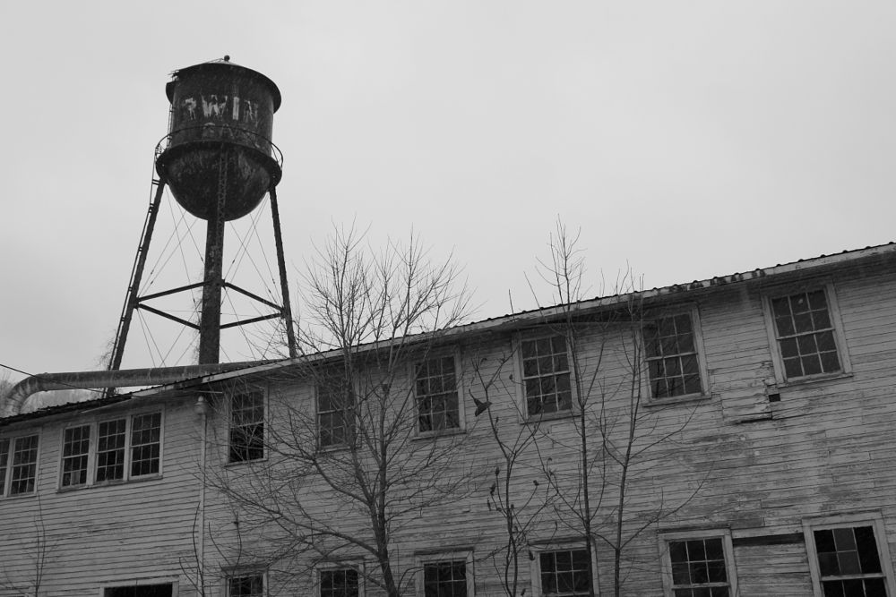 Photo in Black and White #water tower #black and white