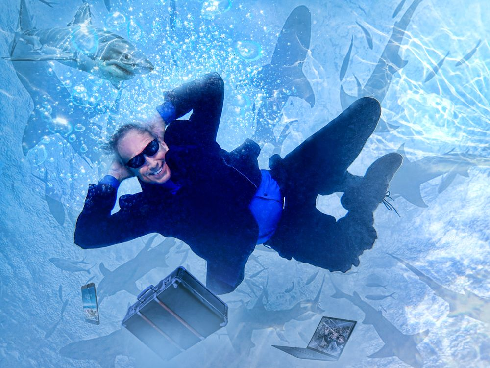 Photo in People #business #swimming #drowning #corporate dive