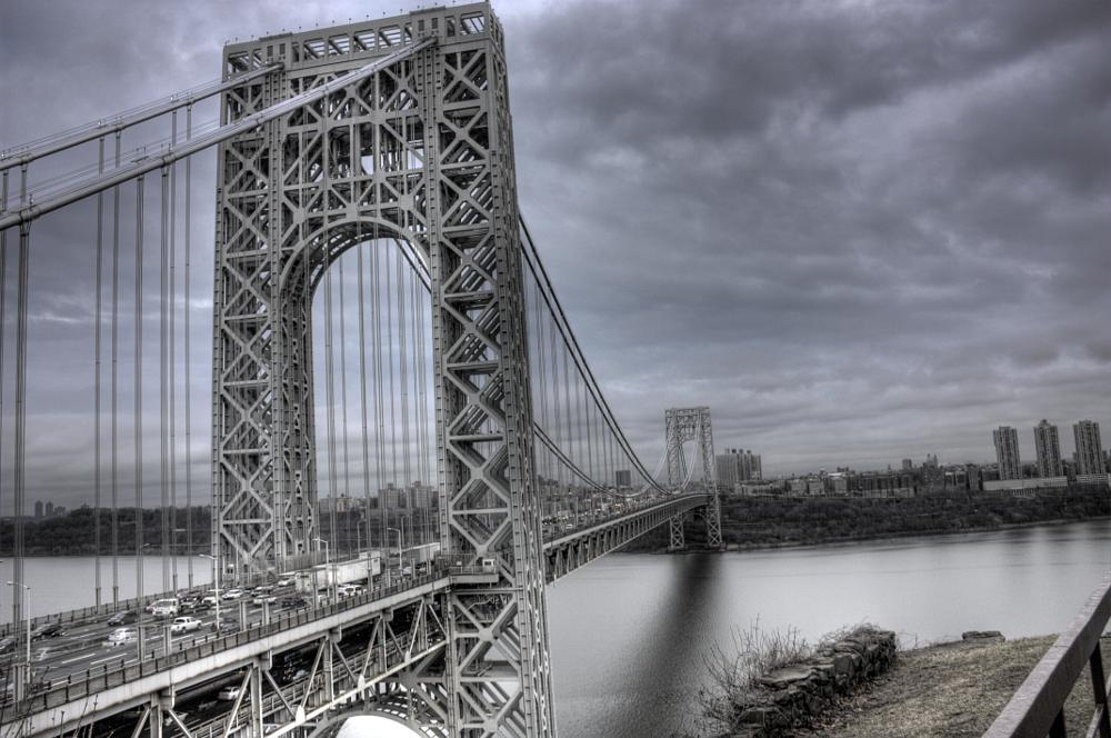 Photo in Landscape #bridge #george washington #new jersey #hdri #cityscape #landscape