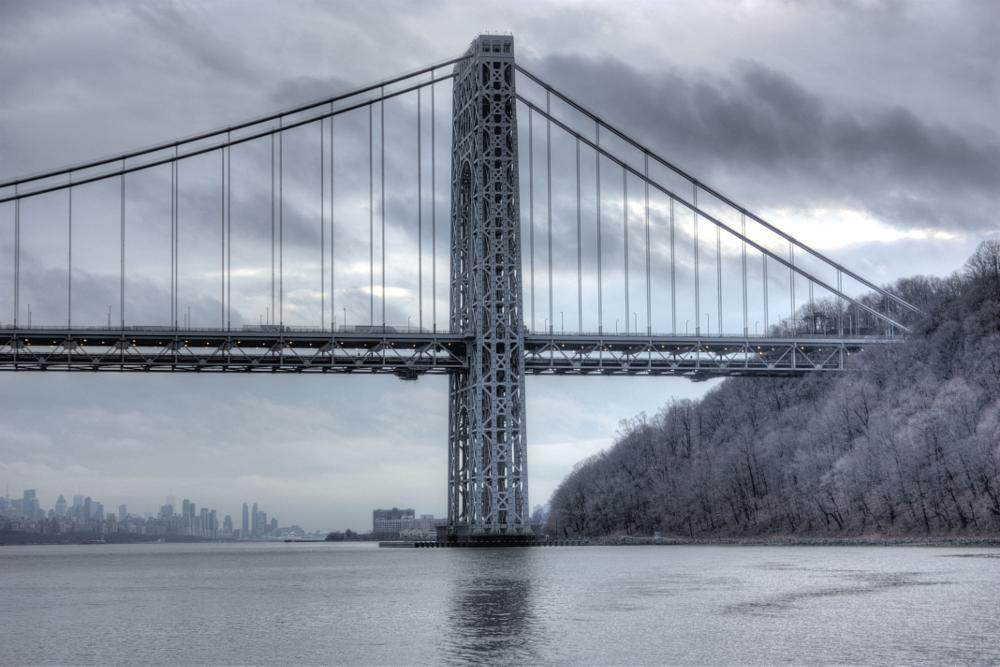 Photo in Landscape #bridge #george washington #hdri #landscape #cityscape #new jersey #new york