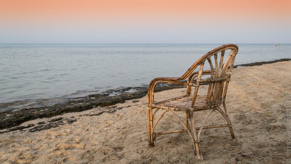 Photo in Landscape #sunset #red sea #sea #chair