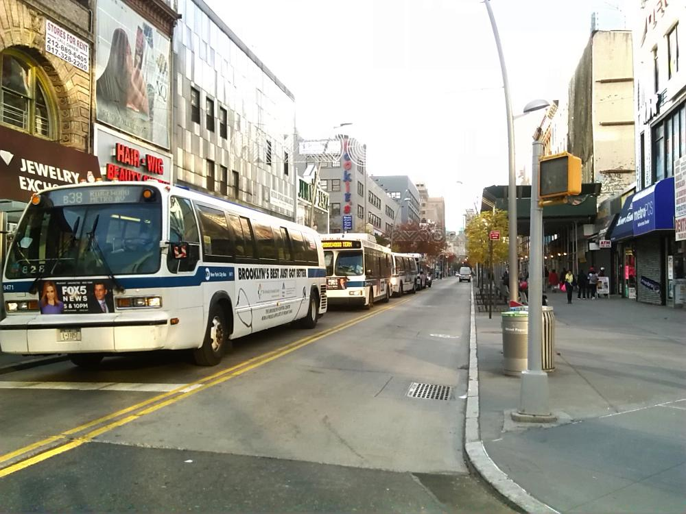 Photo in Cityscape #fulton street mall #nyc buses #downtown brooklyn