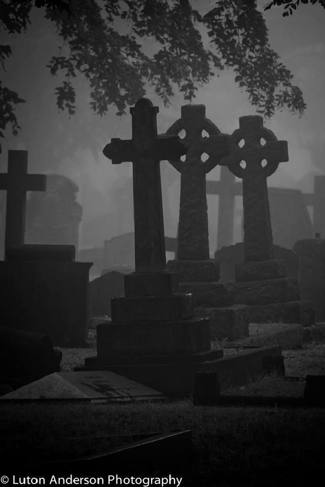 Photo in Random #graveyard london #fog #luton anderson photography