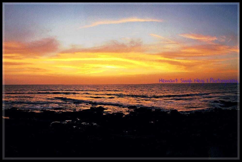 Photo in Nature #hemant singh negi #hemant singh negi photography #sunset #sea