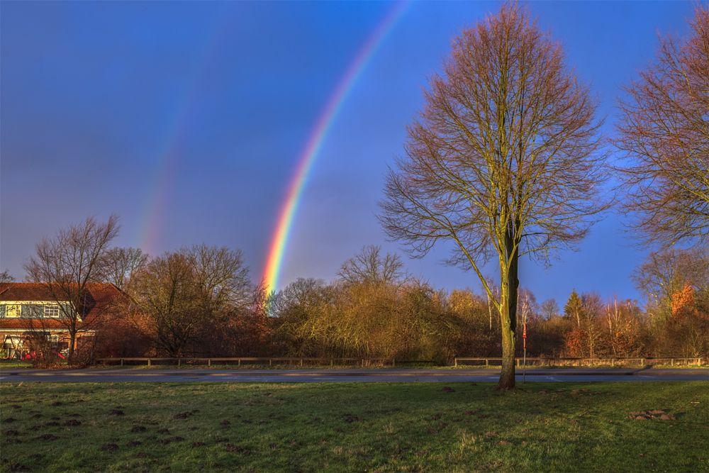 Photo in Random #rainbow #landscape #dannenberg #2016 #hdr
