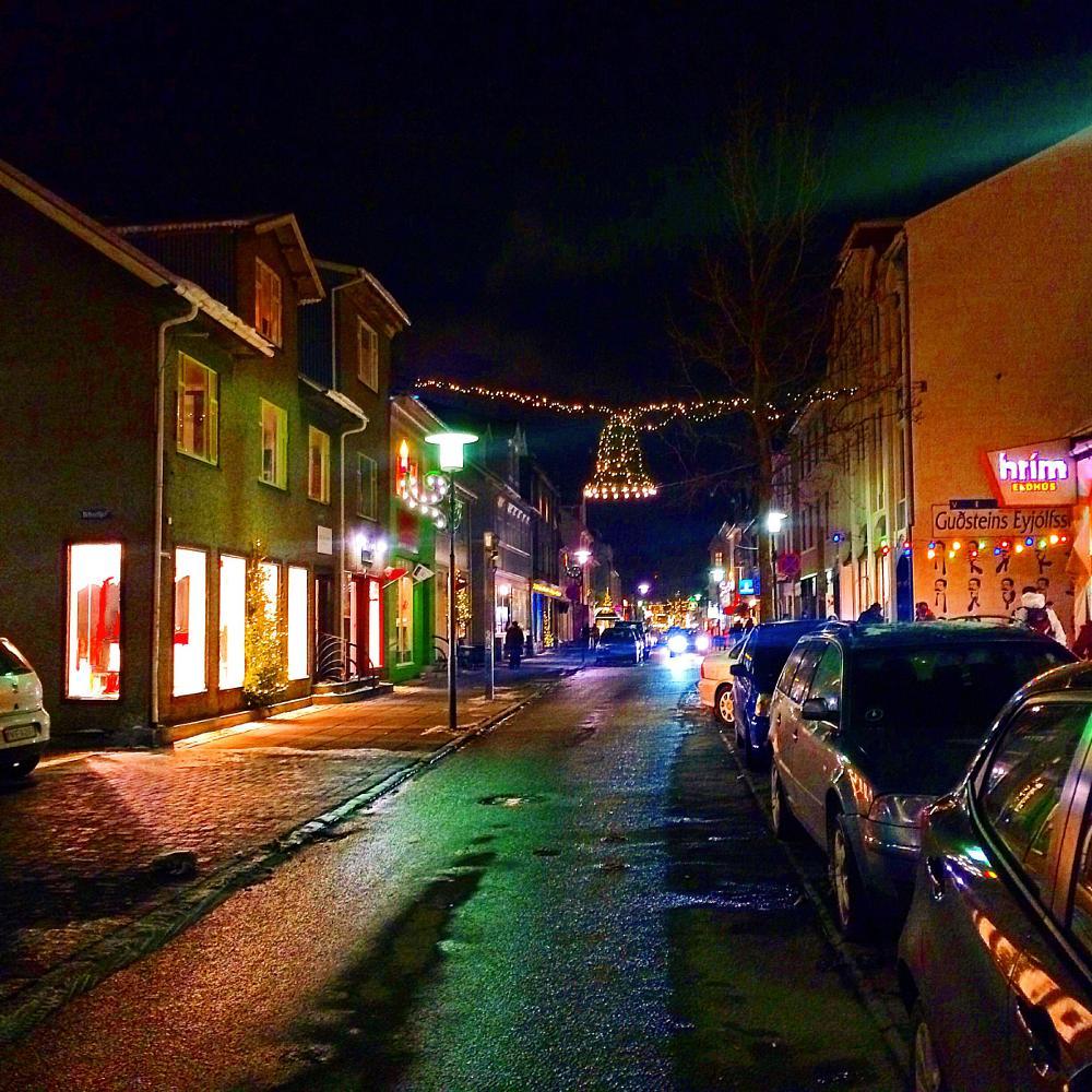 Photo in Street Photography #street photography #december #reykjavik #iceland #street #street view #holiday #winter