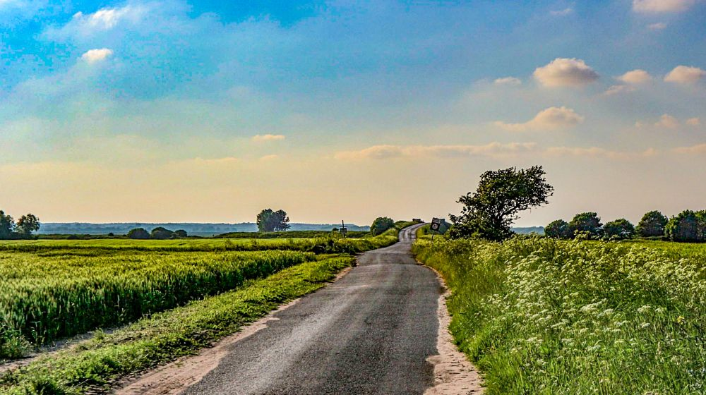 Photo in Random #countryside #landscape #evening photography #landscape photography #west lancashire #rural #vanishing point