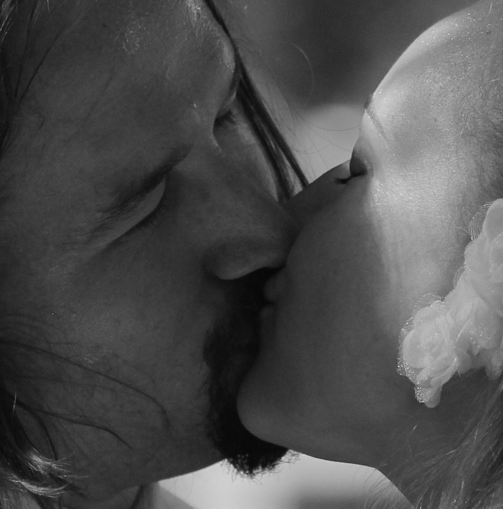 Photo in People #kiss #wedding #black and white