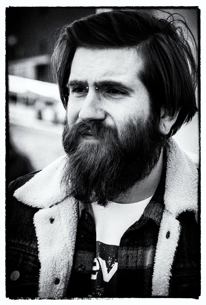 Photo in Portrait #man #male #portrait #monochrome #black and white #film noir #beard
