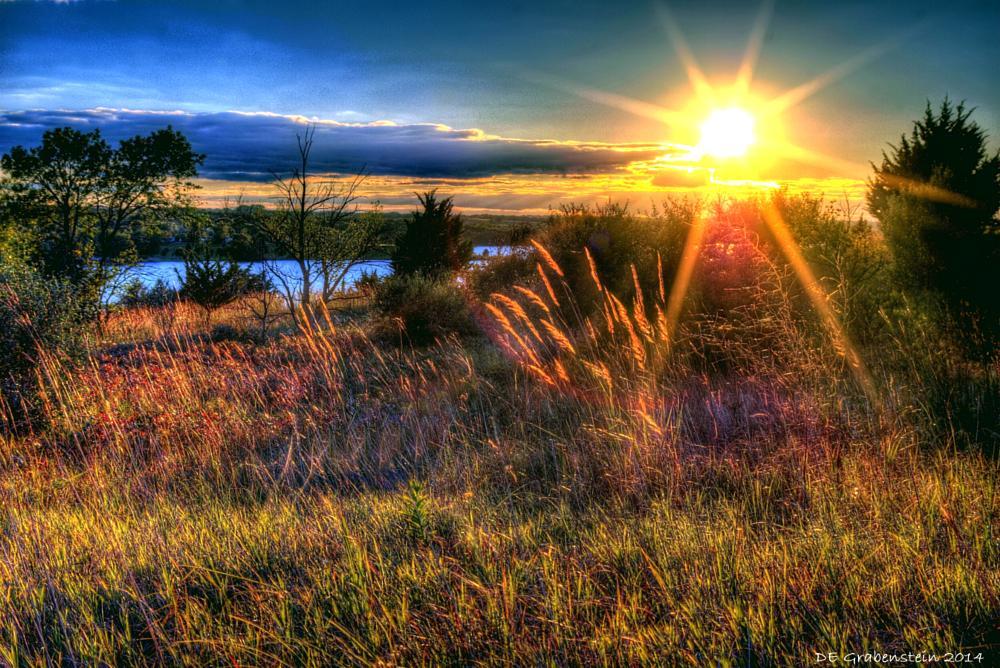 Photo in Landscape #prairie #lake #sunset #soft landscape #relax