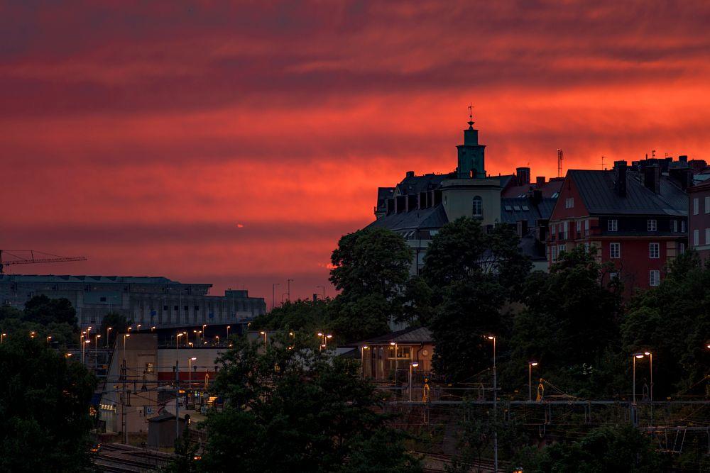 Photo in Cityscape #stockholm #dawn #evening #sony #7riisony #sony7 #romus #sweden #sverige