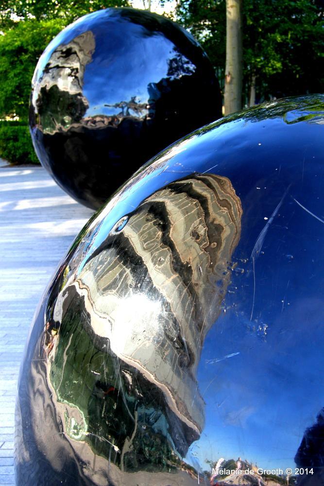 Photo in Abstract #shiny metal balls #balls #metal #shiny