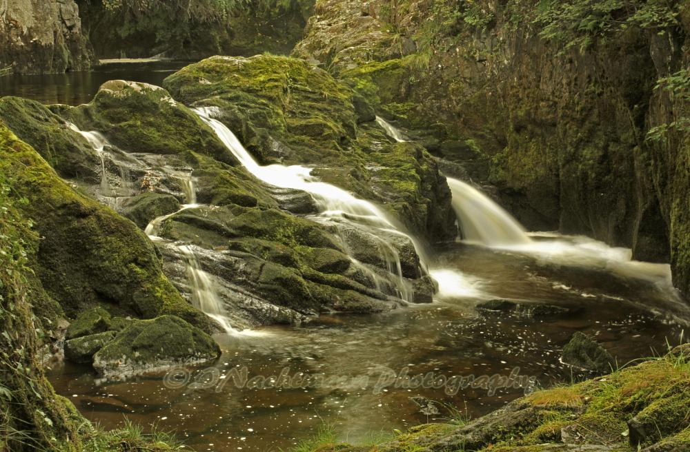 Photo in Nature #waterfall #triple spout falls #river doe #river #woods #cliffs #limestone #ingleton #ingleton waterfall walk #north yorkshire #yorkshire dales #nature #landscape