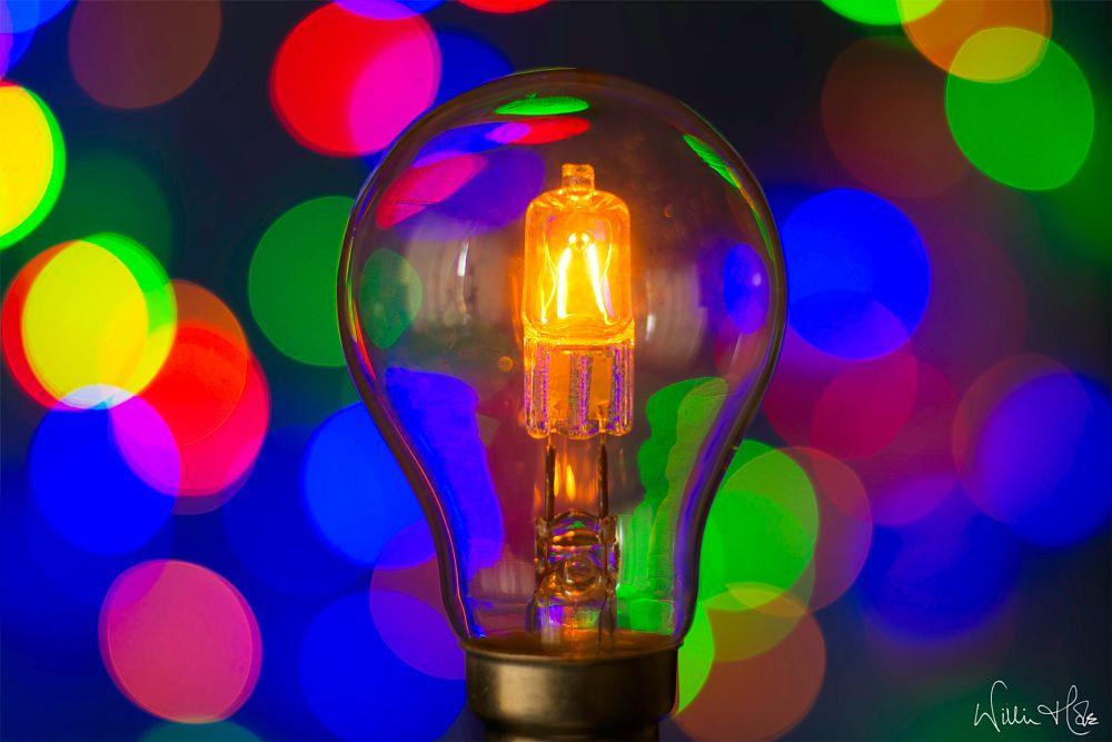 Photo in Random #lightbulb #bulb #shine #colour #bokeh #filament