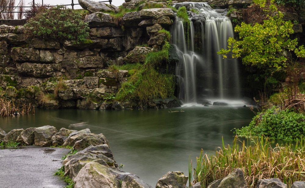 Photo in Nature #waterfall #water #garden