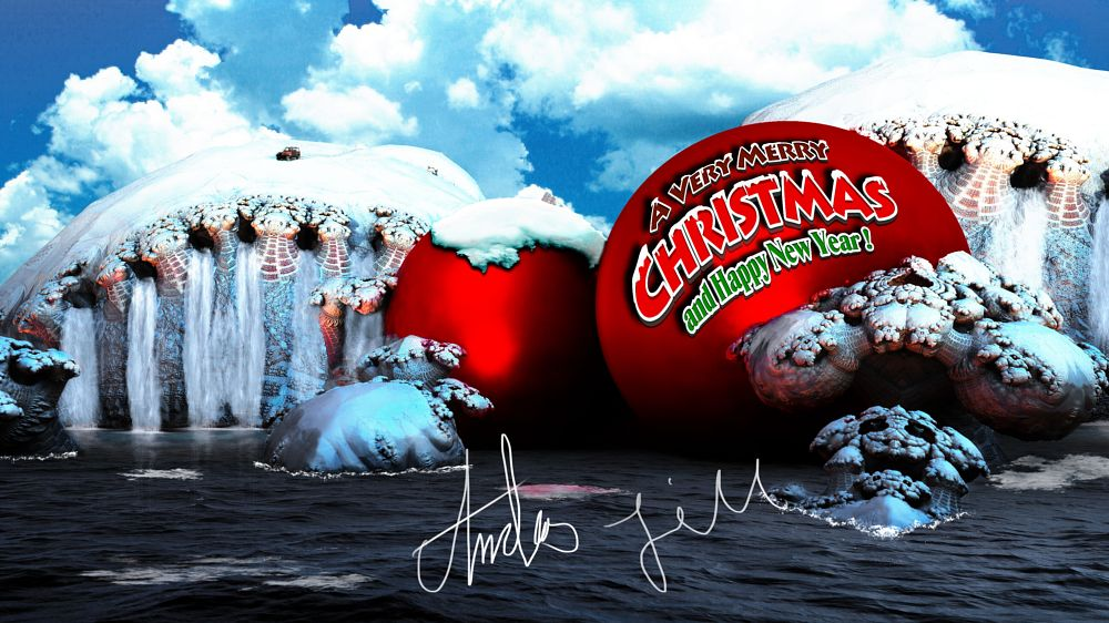 Photo in Abstract #christmas #new year #3d #friends #jeep