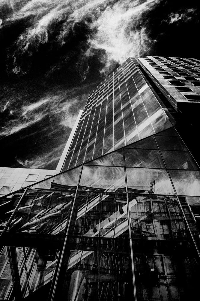Photo in Black and White #city #building #black and white #chile #santiago