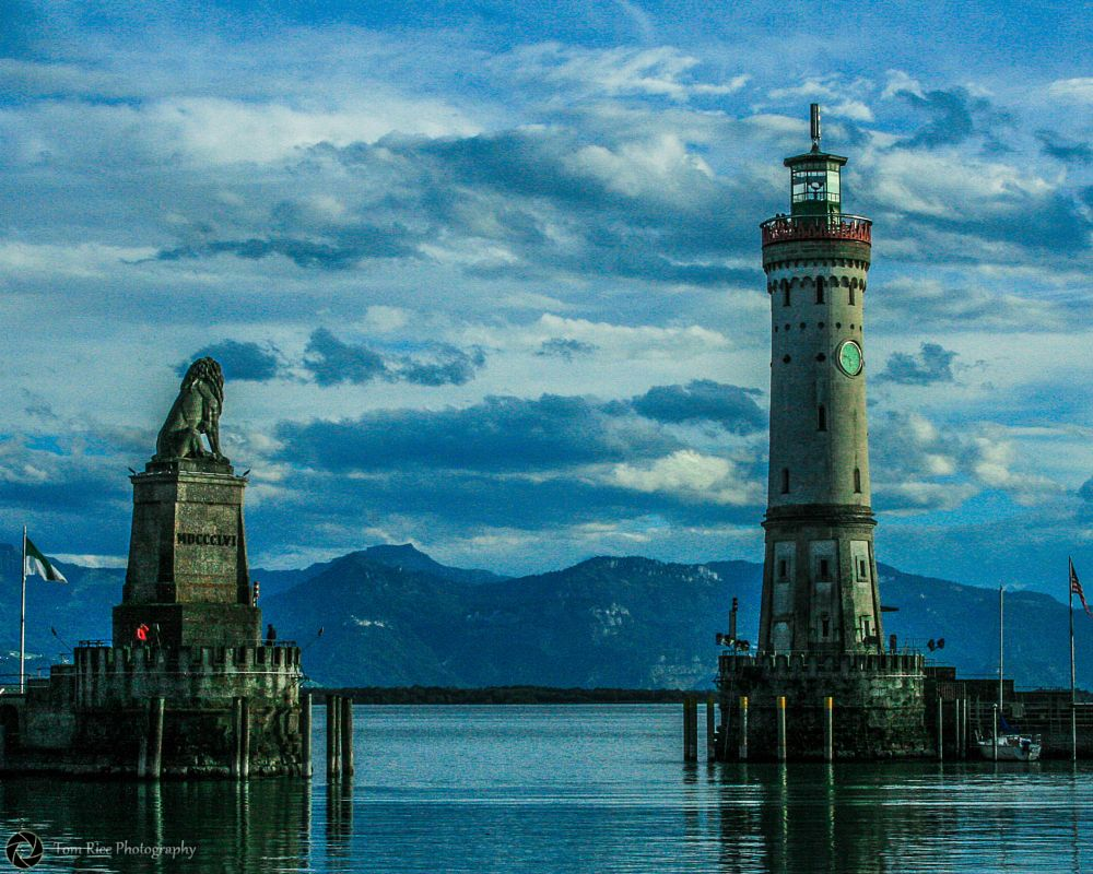Photo in Random #lighthouse #lake constance #germany #blue #water #clouds