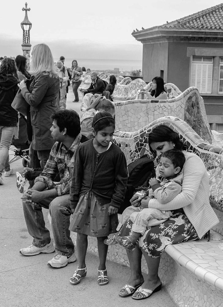Photo in Street Photography #family #spain #blackandwhite #barcelona