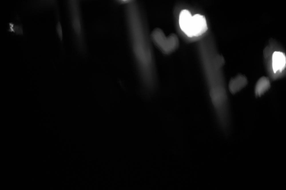 Photo in Black and White #bokeh #lights #b&w #christmas