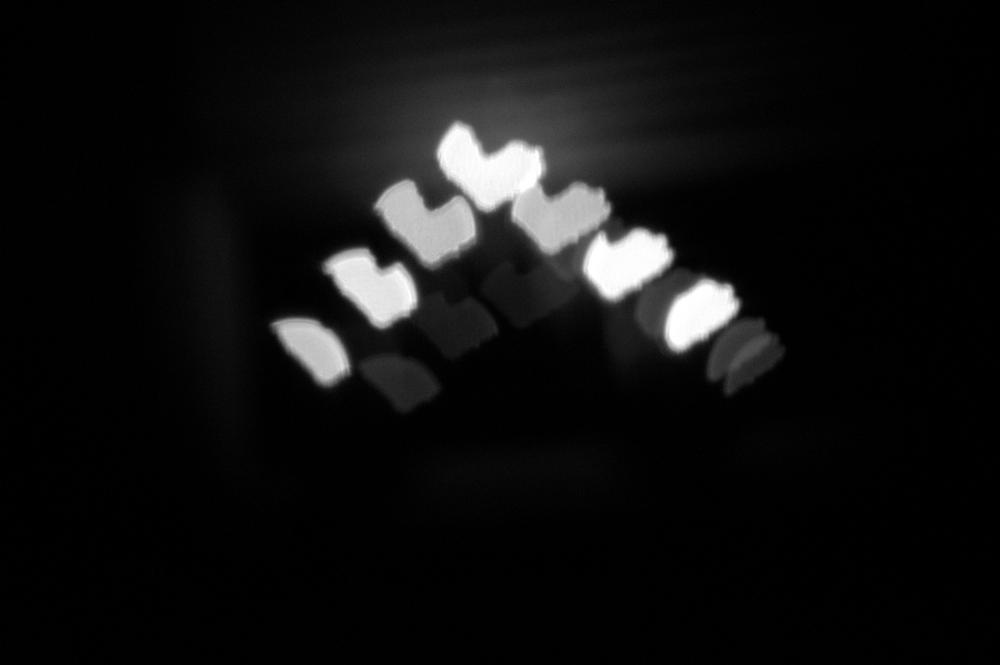 Photo in Black and White #bokeh hearts #christmas lights #black and white