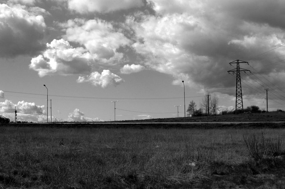 Photo in Black and White #landscape #sky #clouds #nikon #black and white #monochrome #b&w