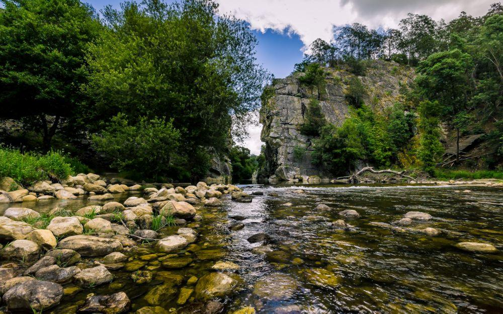 Photo in Landscape #river #nature #ceira #serra da lousã #natureza #waterscape