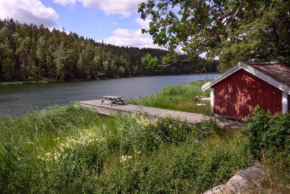 Photo in Landscape #nature #landscape #tyresö #water #sky