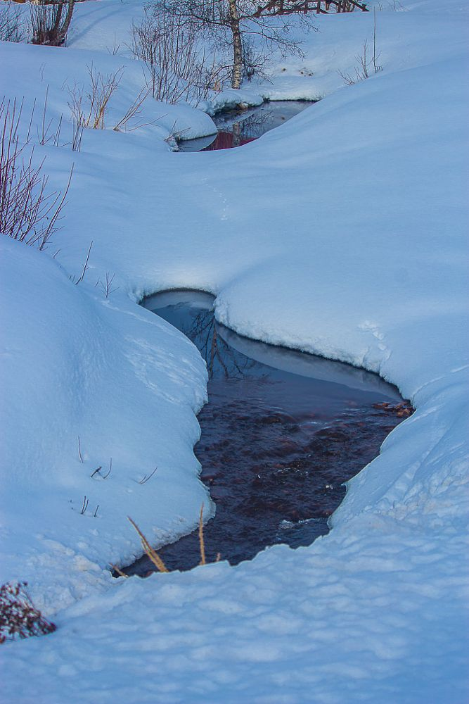 Photo in Landscape #snow #brook #water