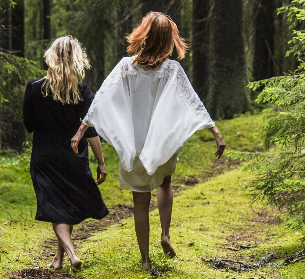 Photo in People #stroll #women #path #woods