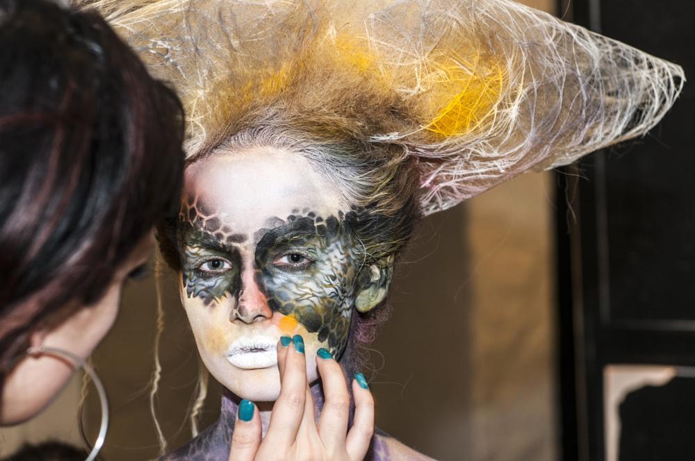Photo in Portrait #bodypainting #makeup #studio