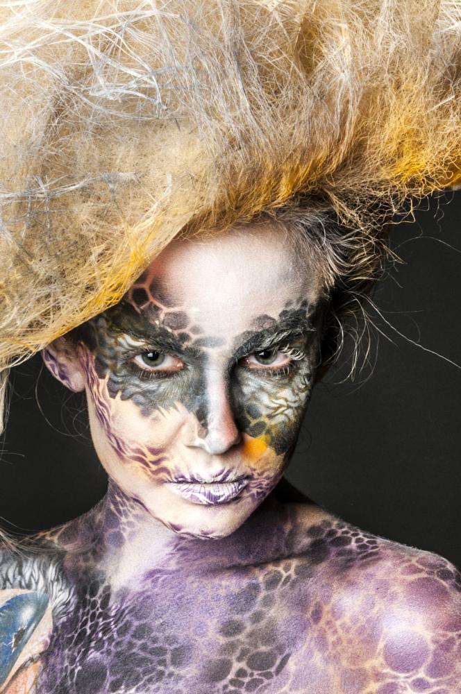 Photo in Nude #bodypainting #makeup #studio