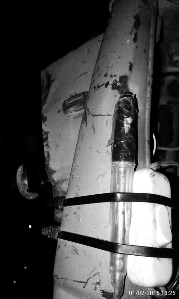Photo in Black and White #old #bike #light #button