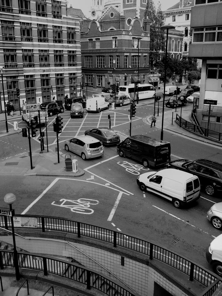 Photo in Black and White #cityscape #traffic #black and white