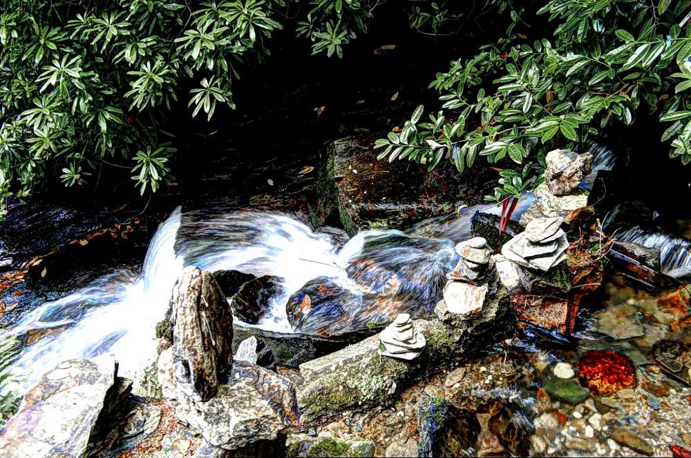 Photo in HDRI #hdr #waterfall #colours